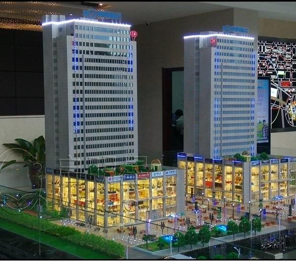摩根国际金融中心模型制作