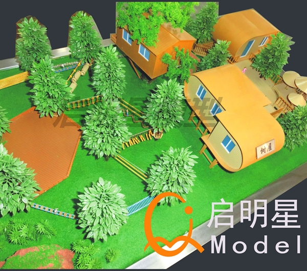 景区模型施工