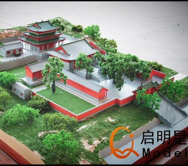 江苏鸟瞰寺庙